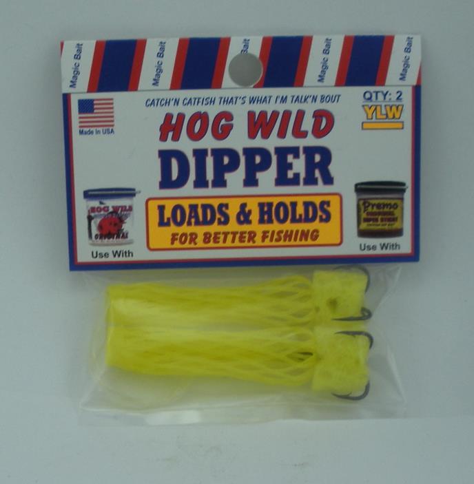4 Packs  Magic Bait 48-23 Hog Wild Bait Dipper Hooks 2 Pk Treble Hooks  Sponge