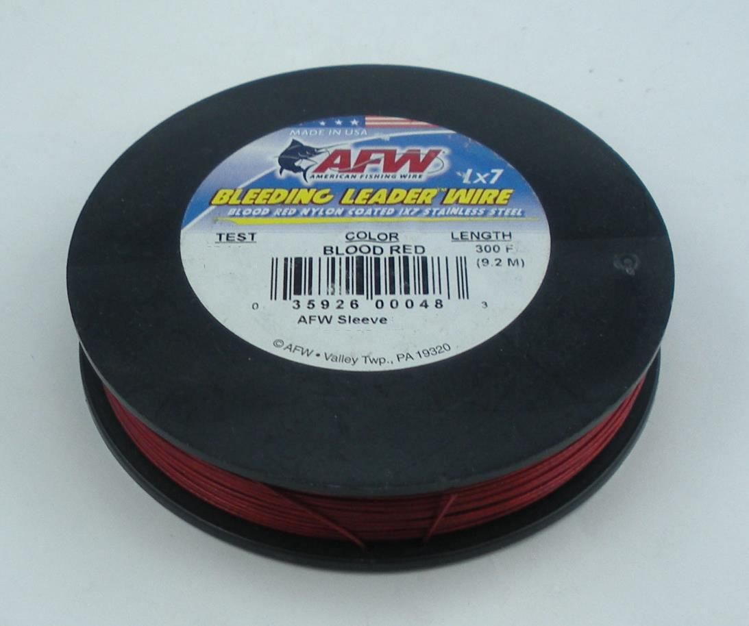AFW American Fishing Wire Bleeding Leader Wire 1x7 Stainless Steel 90lb 30ft.